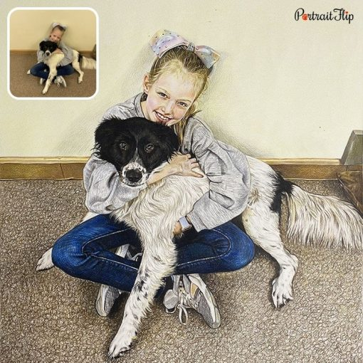 Colored Pencil Pet Drawing