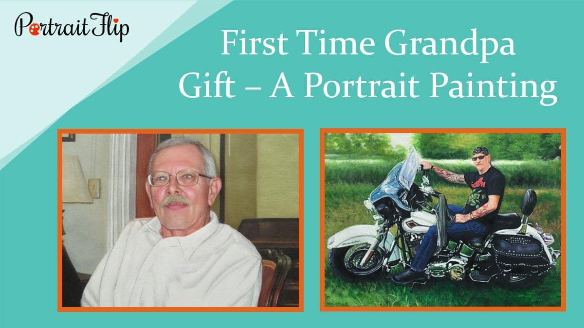 First time grandpa gift – a portrait painting