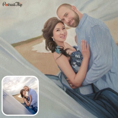 Marriage oil paintings from photo