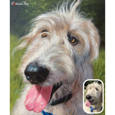 Oil dog portrait from photo (2)