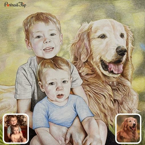 Colored Pencil Drawing from photo