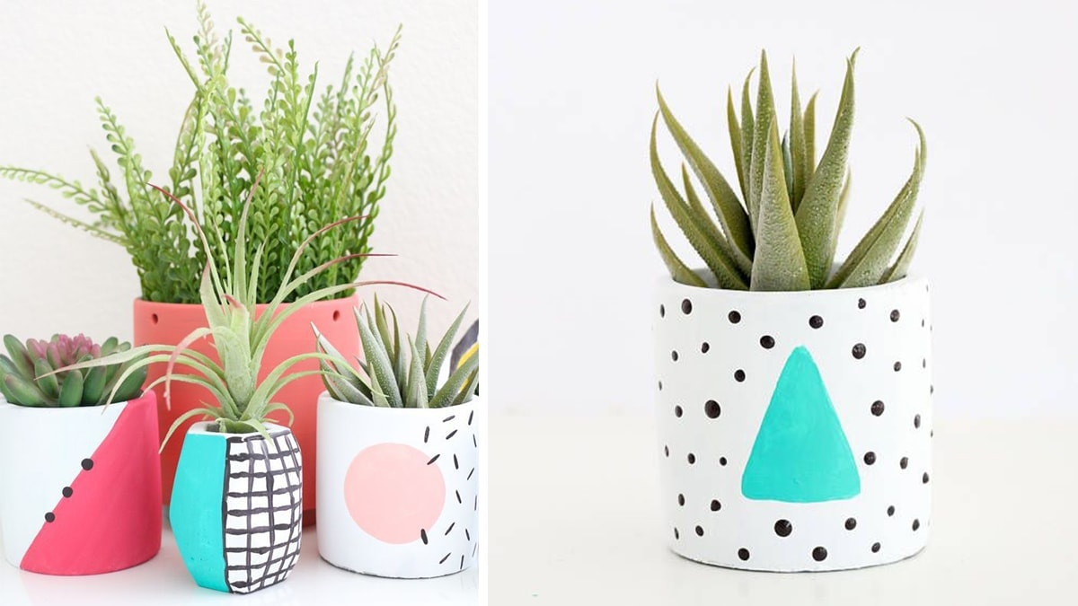 80's Style Small Planter