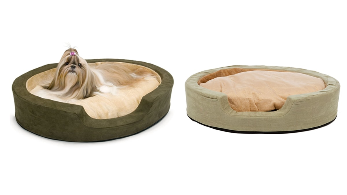 Thermo snuggly sleeper with a lhasa dog