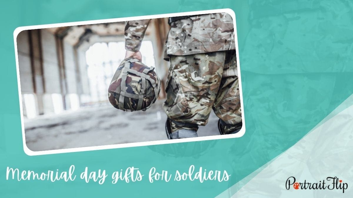 Memorial day Gifts For Soldiers  PortraitFlip