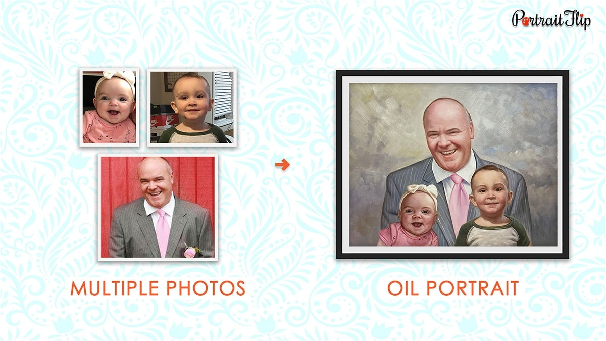 A Compilation Portrait Father's Day Gifts PortraitFlip