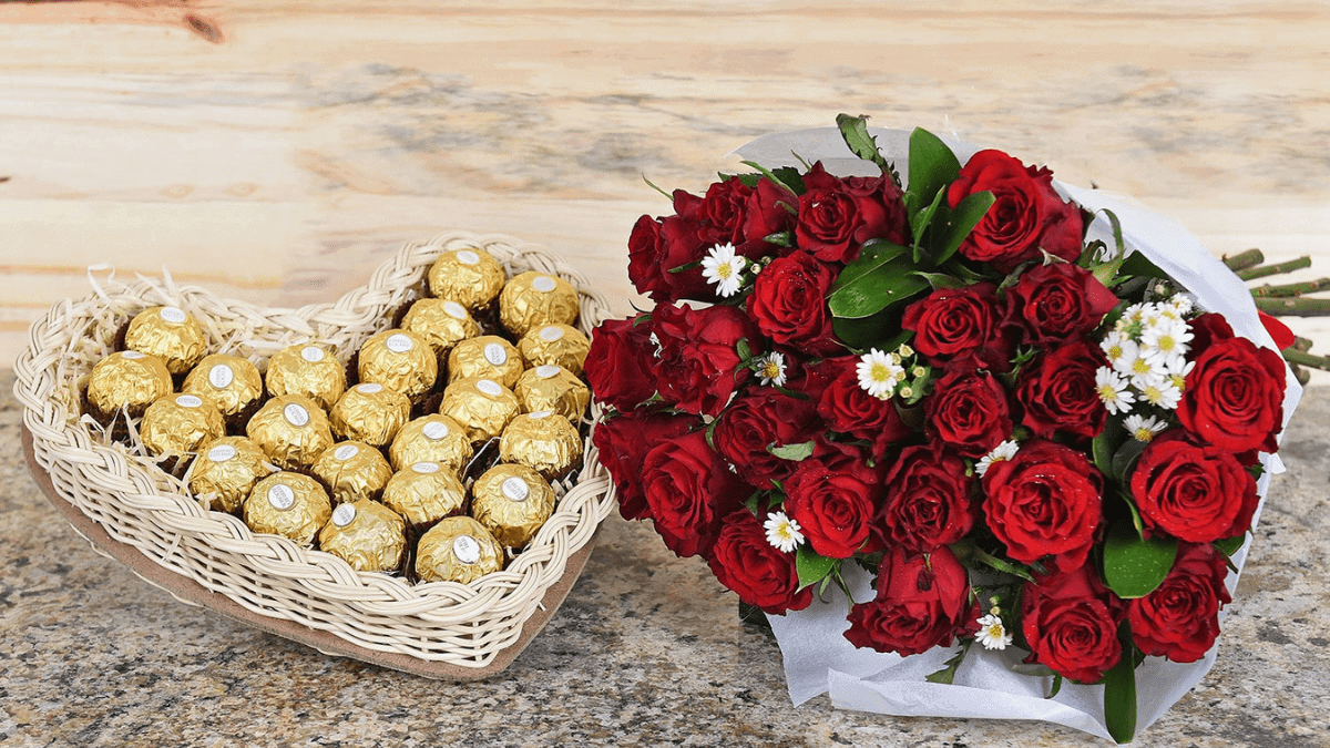 Chocolates and Flowers Friendship Day Gifts