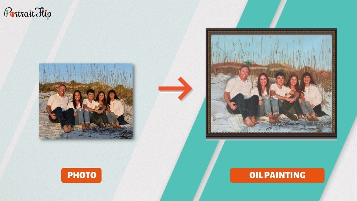 A Family Portrait Memorial Day Gifts PortraitFlip